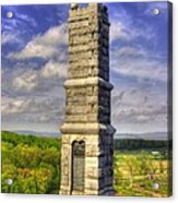 Pennsylvania At Gettysburg - 91st Pa Veteran Volunteer Infantry - Little Round Top Spring Acrylic Print by Michael Mazaika