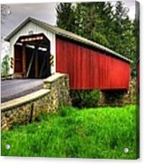Pennsylvania Country Roads - Forry's Mill Covered Bridge - Lancaster County Spring No. 2 Acrylic Print