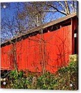 Pennsylvania Country Roads - Wagoners Covered Bridge Over Bixlers Run - Perry County Acrylic Print