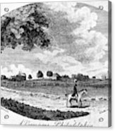 Pennsylvania Farm, 1795 Acrylic Print