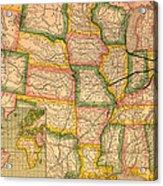 Pennsylvania Railroad Map 1879 Acrylic Print