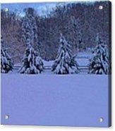 Pennsylvania Snowy Wonderland Acrylic Print