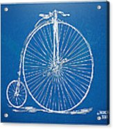 Penny-farthing 1867 High Wheeler Bicycle Blueprint Acrylic Print