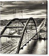 Pennybacker Bridge Bw Acrylic Print