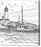 Peggy's Cove Lighthouse Nova Scotia Acrylic Print