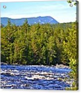Penobscot River And Mt Katahdin Acrylic Print