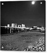 Pensacola Beach At Night Acrylic Print