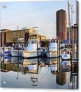 Pensacola Beach Harbor Panoramic Acrylic Print