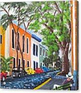 Pensando En El Viejo San Juan Acrylic Print