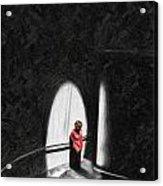 Pensive Acrylic Print by Cary Shapiro