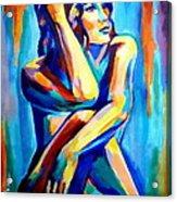 Pensive Figure Acrylic Print