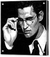 Pensive Man With Glasses Acrylic Print