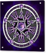 Pentacle Of The Purple Moon Acrylic Print