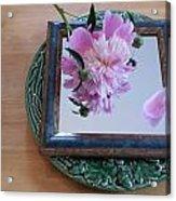 Peony Square Circle Sora's Flower Acrylic Print