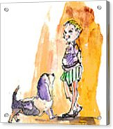 People And Their Dogs 01 Acrylic Print