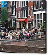 People By The Canal Acrylic Print