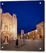 People crossing from church of St. Paul Acrylic Print
