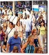 People In New York Acrylic Print