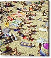 People In The Beach Acrylic Print
