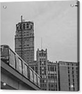 People Mover Downtown Detroit Acrylic Print