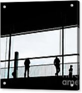 People Silhouettes In Airport Acrylic Print