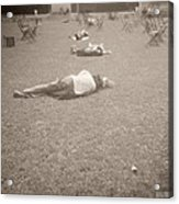 People Sleeping In The Park Acrylic Print by Beverly Brown