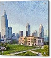 People Square In Shanghai Acrylic Print