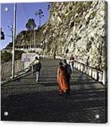 People Walking On The Path Leading To Shrine Of Vaishno Devi Acrylic Print
