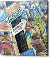 People's Wall Berkeley Ca 1977 Acrylic Print