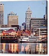 Peoria Illinois Skyline Acrylic Print