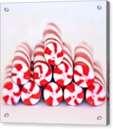 Peppermint Twist - Candy Canes Acrylic Print
