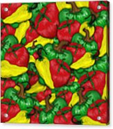 Peppers And Tomatos Acrylic Print