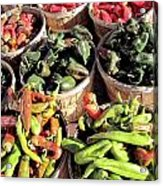 Peppers By The Bushel Acrylic Print