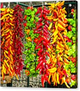Peppers For Sale Acrylic Print