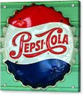 Pepsi Cap Acrylic Print by David Lee Thompson
