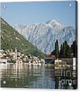 Perast In Kotor Bay Montenegro Acrylic Print