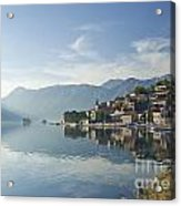 Perast Village In The Bay Of Kotor In Montenegro  Acrylic Print
