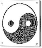 Perfect Balance 1 - Yin And Yang Stone Rock'd Art By Sharon Cummings Acrylic Print