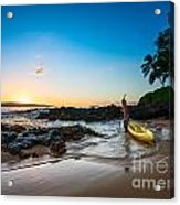 Perfect Ending - Beautiful And Secluded Secret Beach In Maui Acrylic Print
