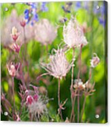 Flowers With Pink Hair Acrylic Print
