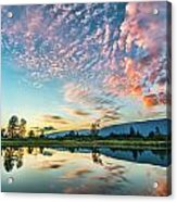 Perfect Sunset Clouds Acrylic Print