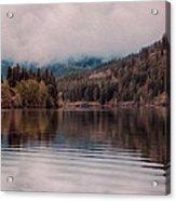 Perfectly Cloudy Lake Acrylic Print