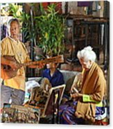 Performers - Night Street Market - Chiang Mai Thailand - 01134 Acrylic Print