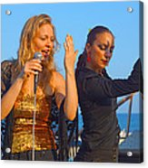 Performing By The Sea Acrylic Print