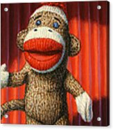 Performing Sock Monkey Acrylic Print
