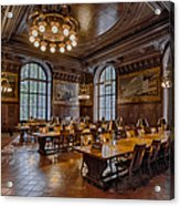 Periodical Room At The New York Public Library Acrylic Print
