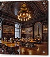 Periodicals Room New York Public Library Acrylic Print