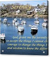 Perkins Cove Serenity Acrylic Print