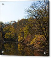 Perkiomen Creek In Autumn Acrylic Print