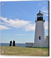 Pemaquid Lighthouse Visitors Acrylic Print